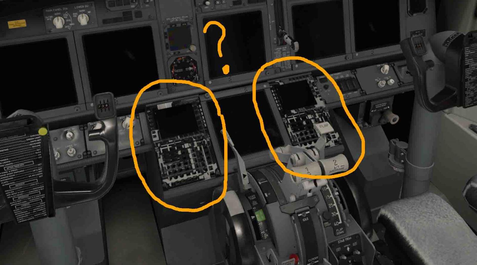 FMC Case texture bug in ZIBO 737-800 mod - ZIBO B738-800