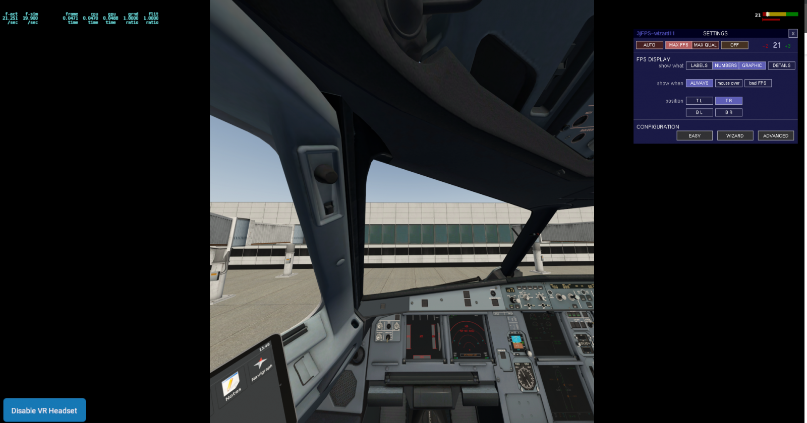 Confused by HDR FPS increase - VR in X-Plane 11 - X-Plane