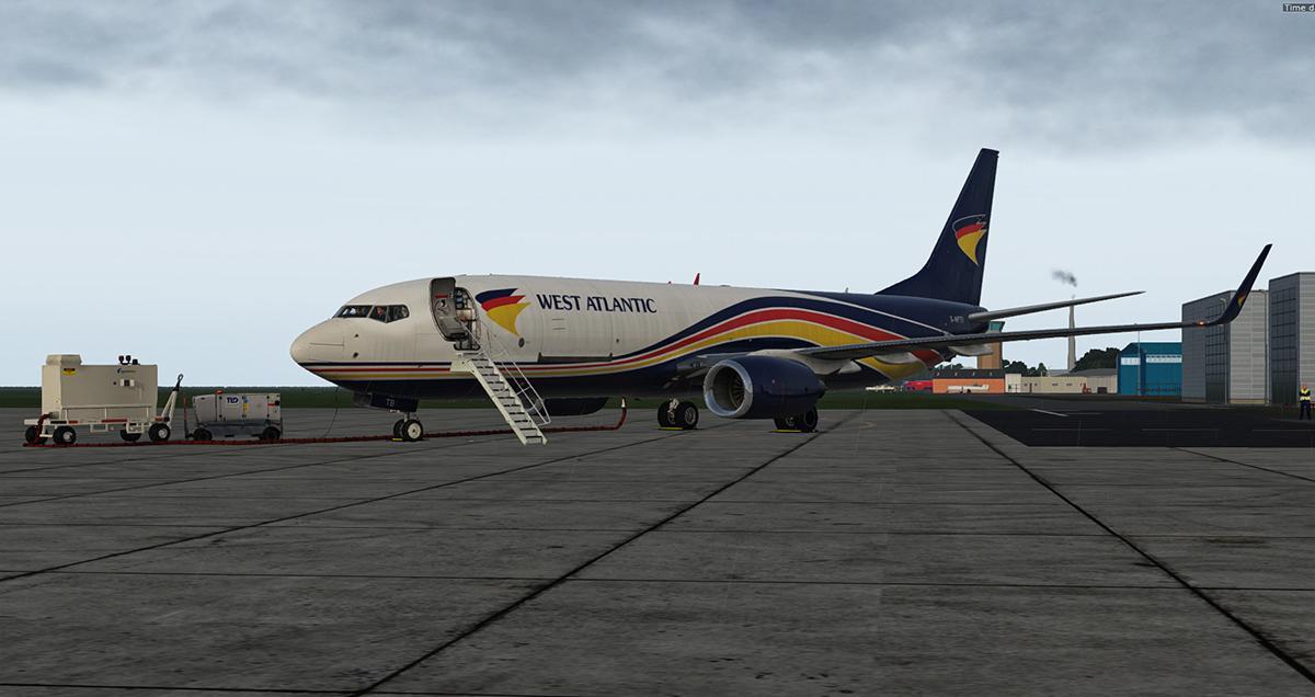 West Atlantic livery Boeing 737-800(BCF) G-NPTB (Zibo 3 35+)